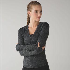 Lululemon Interval Long Sleeve, Heathered Black 6